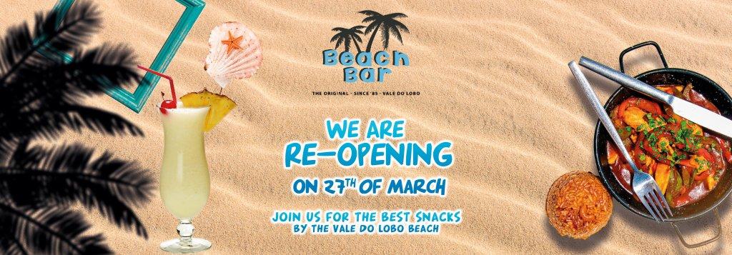 beach bar re-oopening